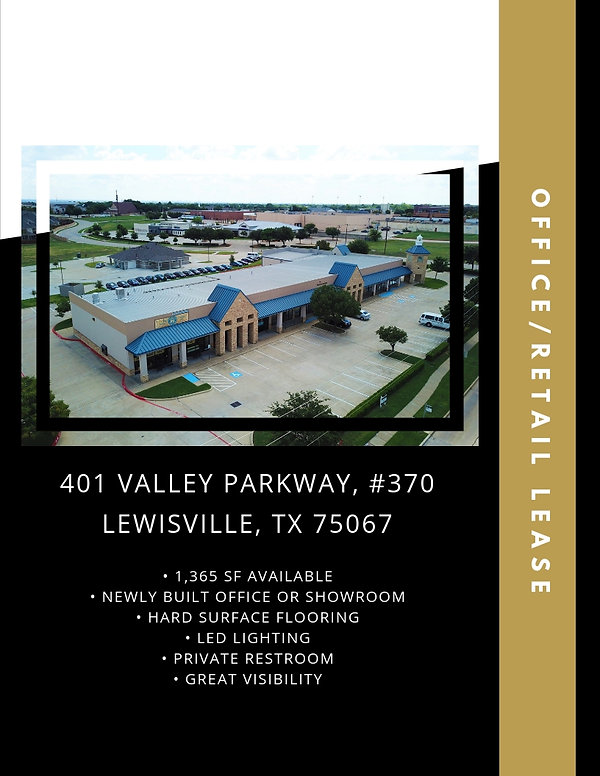 Office Retail Location for Lease: Lewisville, TX