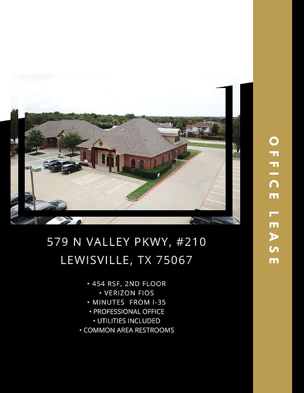Small Professional Office for Lease: Lewisville, TX