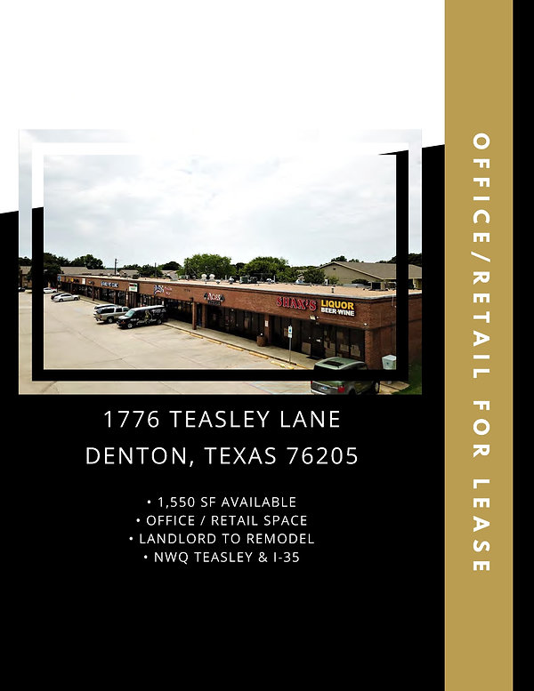 Commercial Retail Space for Rent: Denton, TX