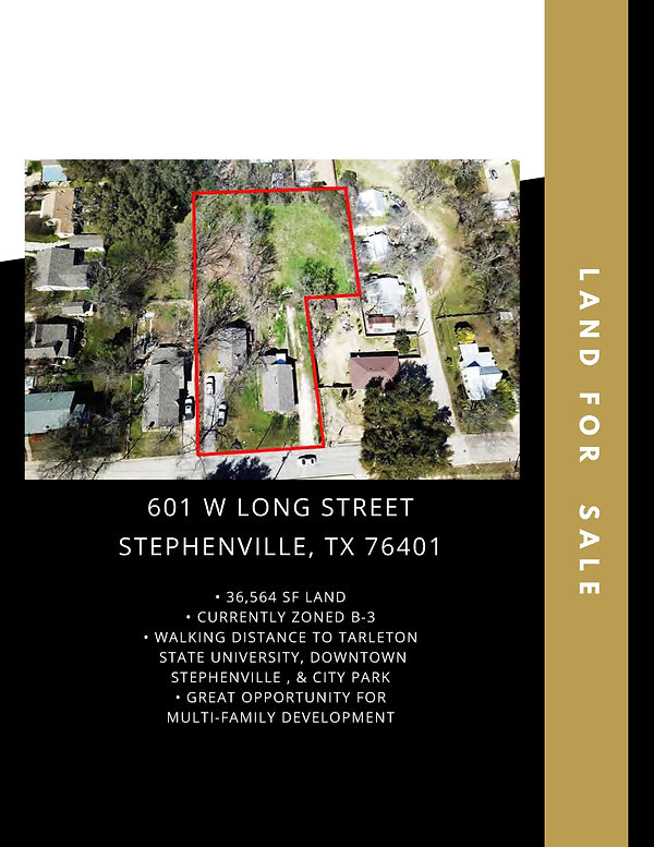 Commercial Lot for Sale Retail / Multi-Family: Stephenville, TX