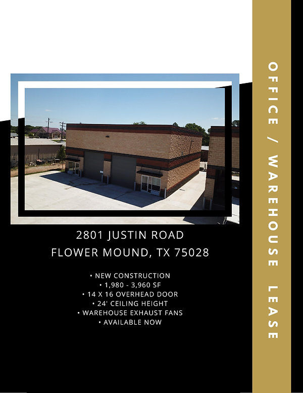 New Construction Office Warehouse for Lease: Flower Mound, TX