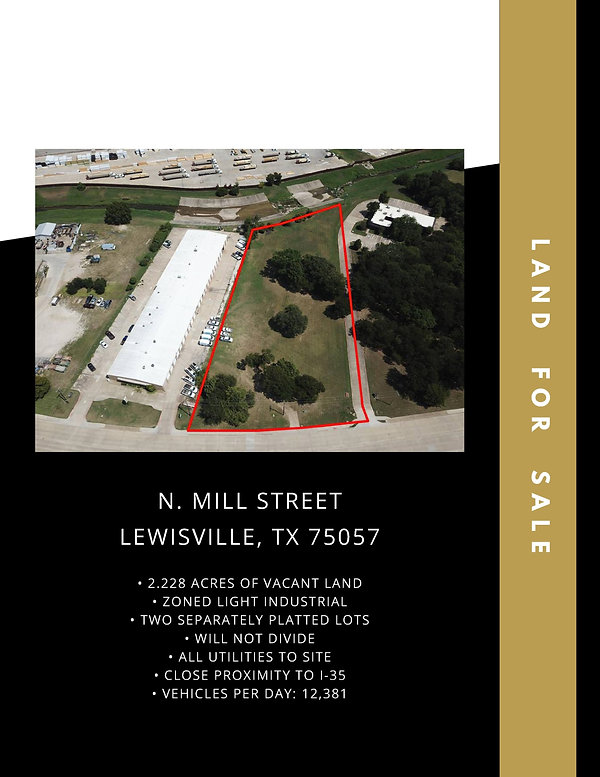 Industrial Land for Sale: Lewisville, TX