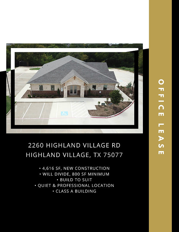Medical and Professional Office for Lease: Highland Village, TX