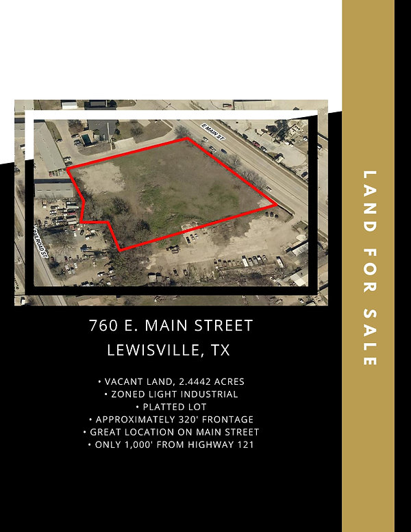 Main Street Land for Sale: Lewisville, TX