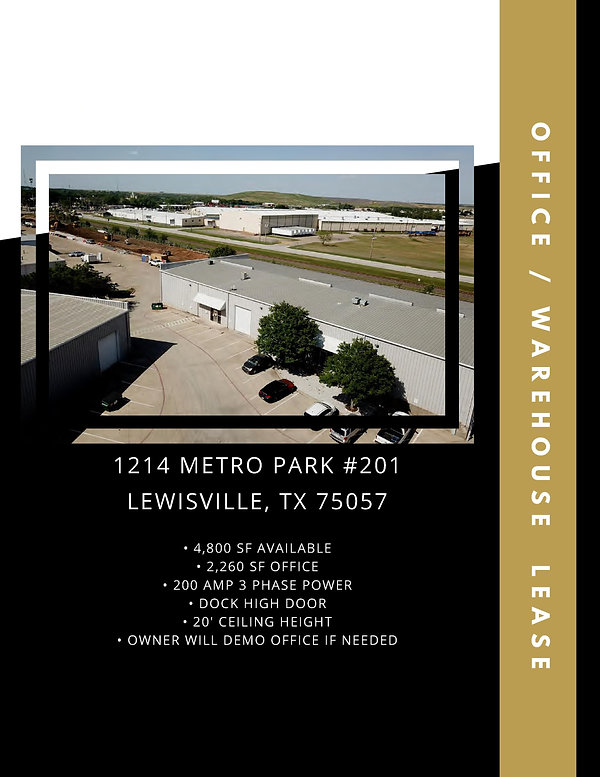 Industrial Warehouse Space for Rent: Lewisville, TX
