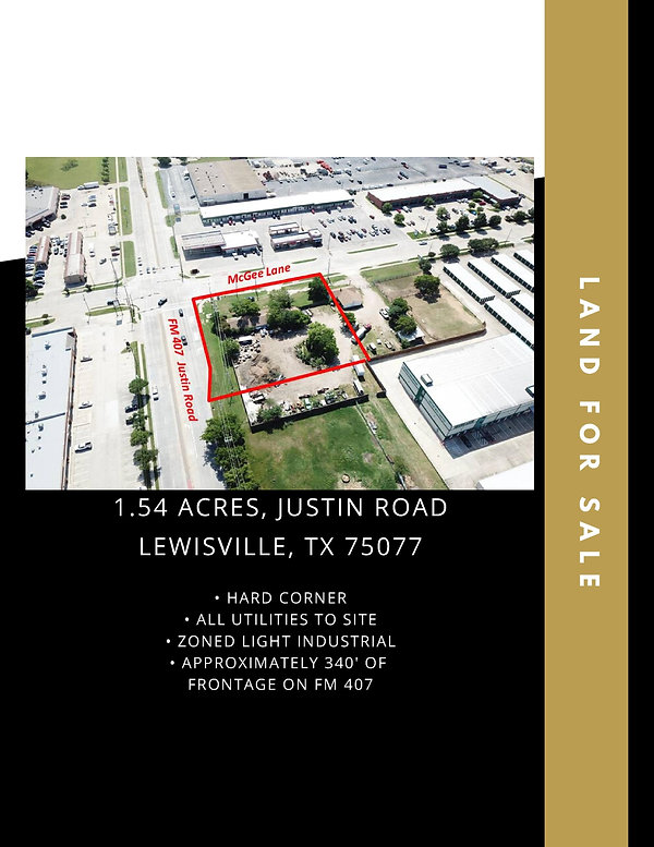 Light Industrial Land for Sale: Lewisville, TX