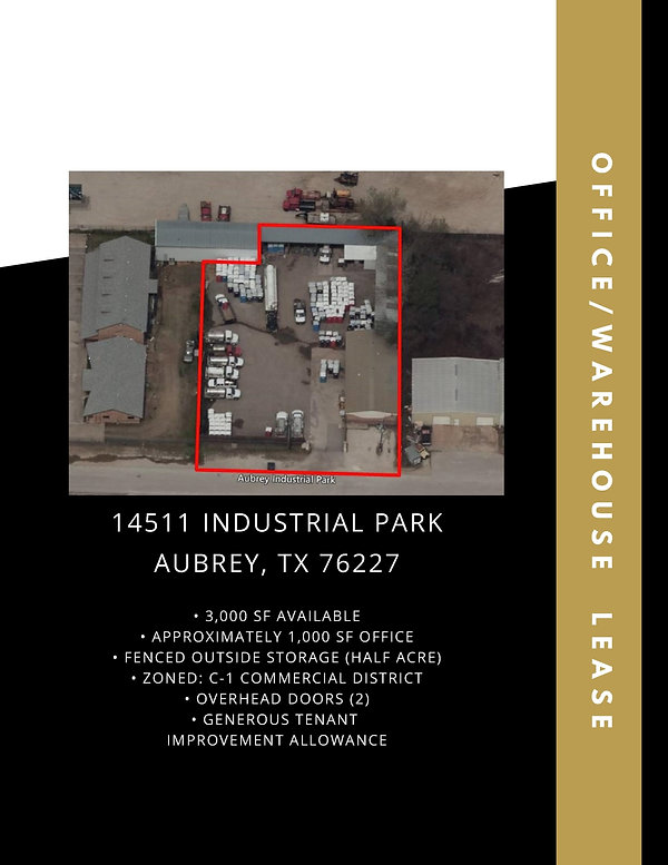Industrial Warehouse for Rent: Aubrey, TX