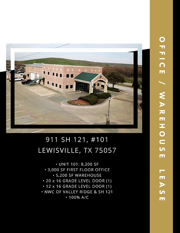 Flex Office Warehouse Space for Lease: Lewisville, TX