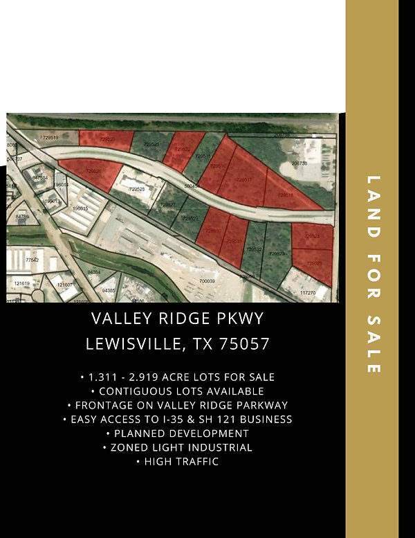 Commercial Lots for Sale: Aubrey, TX