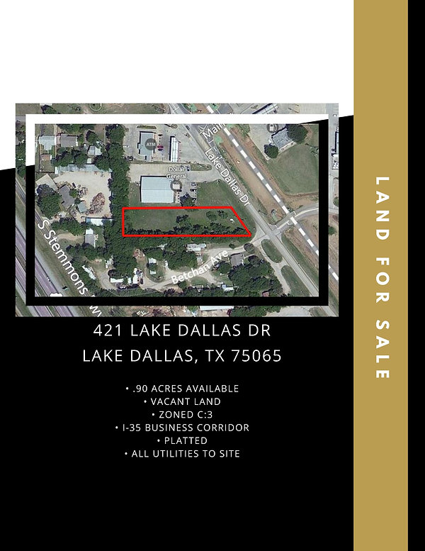 I-35 Business Corridor Land for Sale: Lake Dallas, TX