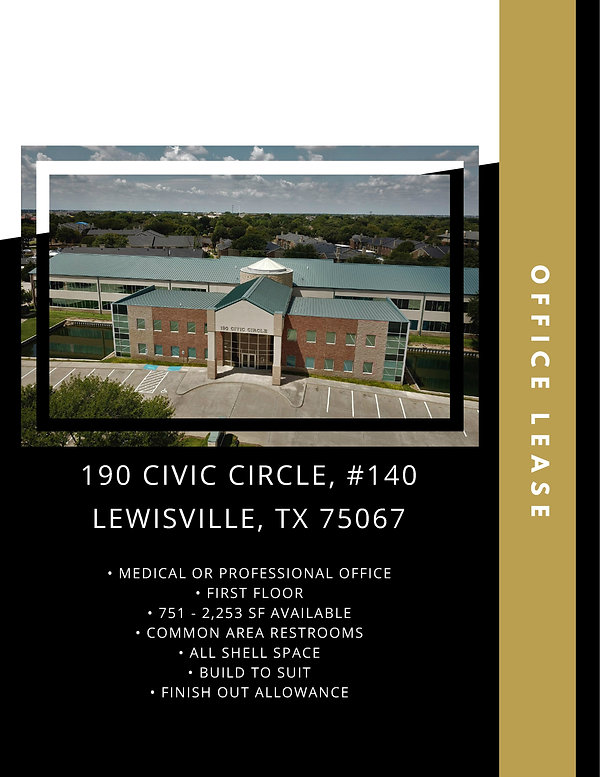Medical and Professional Office for Lease: Lewisville, TX
