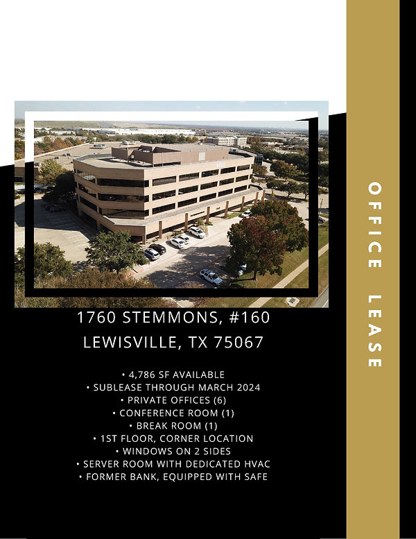 Professional Office for Lease: Lewisville, TX