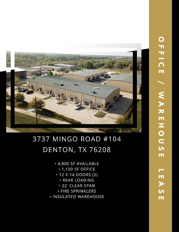 Industrial Warehouse Space for Lease: Denton, TX