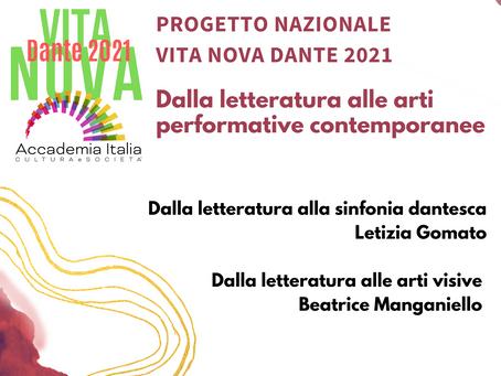 Dantedì 25 marzo: Vita Nova 2021. Dalla letteratura alle arti performative contemporanee