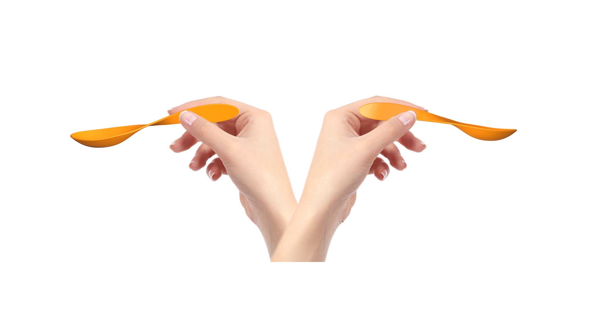 feedign spoon left right