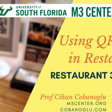Using QR Codes in Restaurants as Menus and Payment Method
