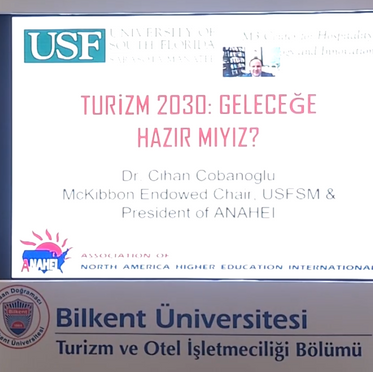 Prof Cobanoglu spoke at Bilkent Univ Digital Transformation in Tourism Forum