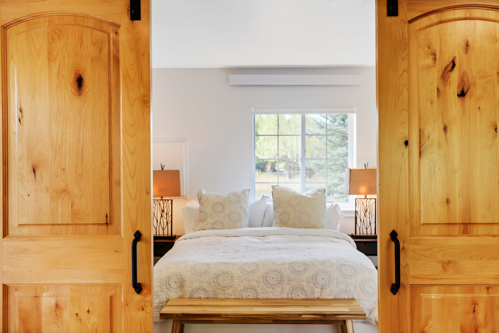 Mountain Modern Bedroom Teton Village Road
