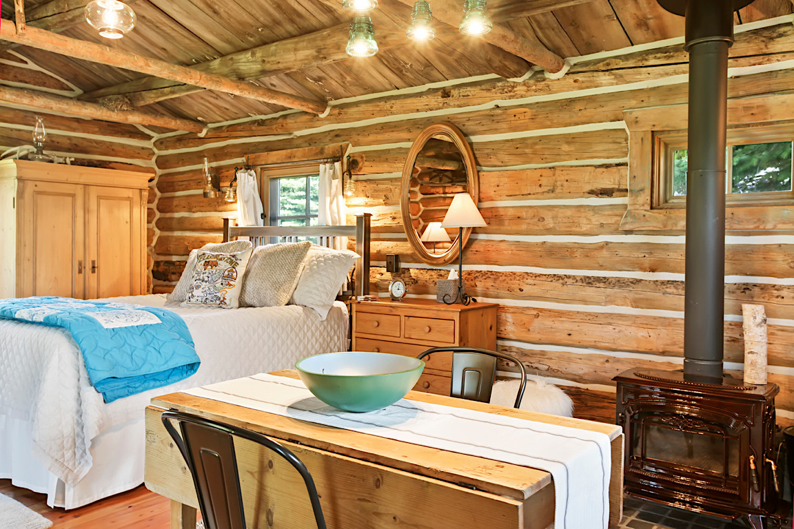 Rustic Cabin Interior photo