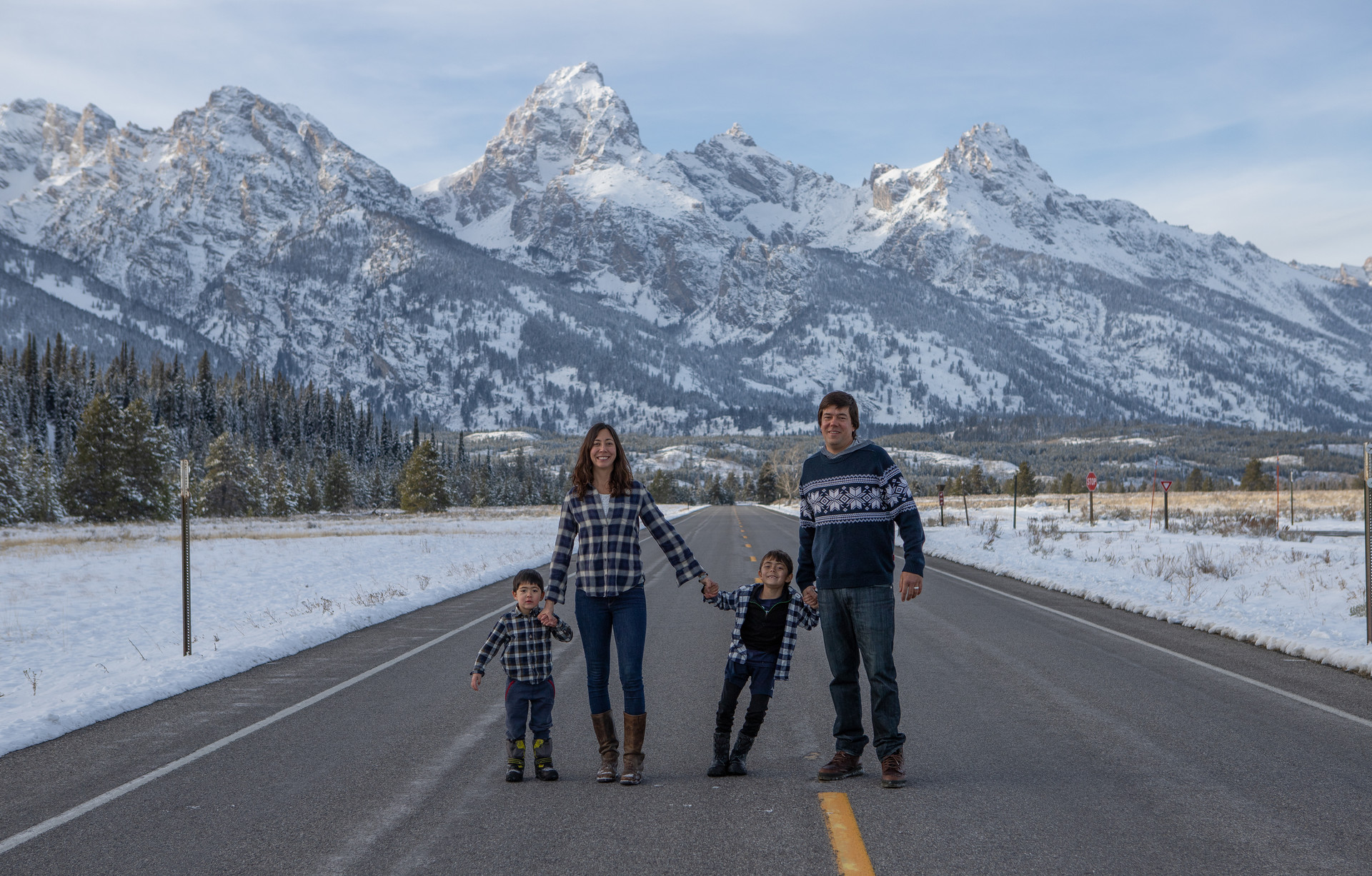Family portrait in Grand Teton National Park