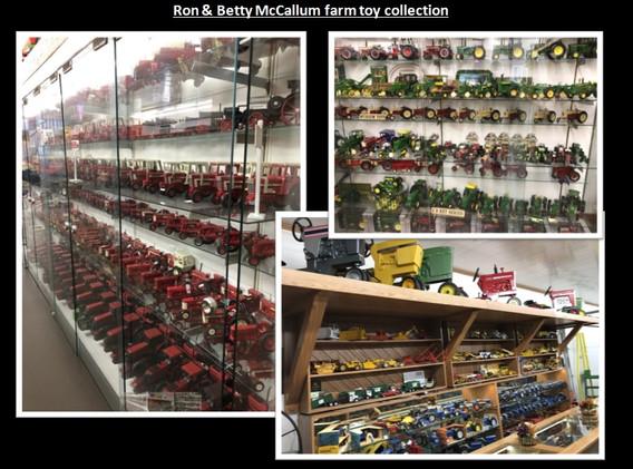 Ron and Betty McCallum farm toy collecti