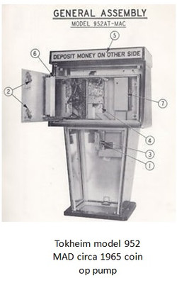 Tokheim model 952 MAD circa 1965 coin op