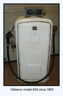 gilbarco model 604 gas pump circa 1963