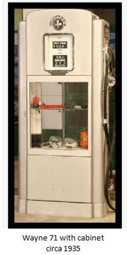 wayne model 71 display cabinet circa 1938