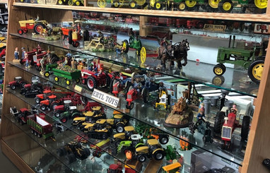 Ron and Betty toy tractor collection 10.
