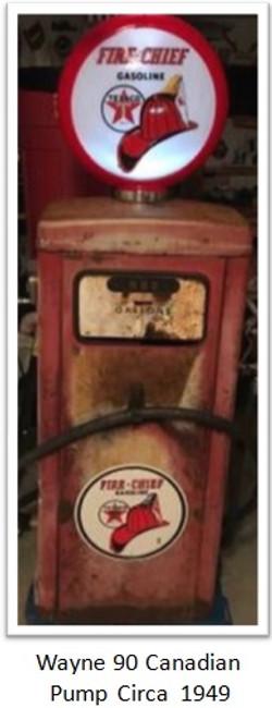 Wayne model 90 Canadian gas pump circa 1