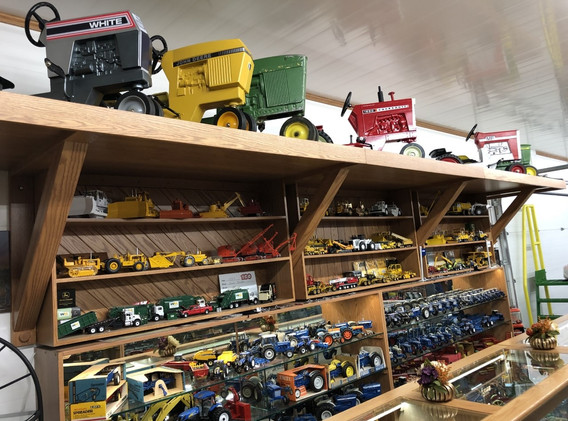 Ron and Betty toy tractor collection 2.j