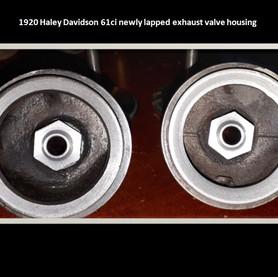 1920 Harley Davidson exhaust valve housi