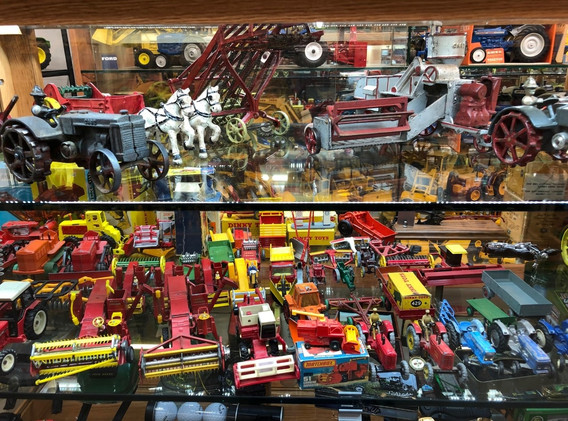 Ron and Betty toy tractor collection 5.j