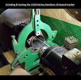 Grinding and Boaring 1920 Harley Davidson Cylinders