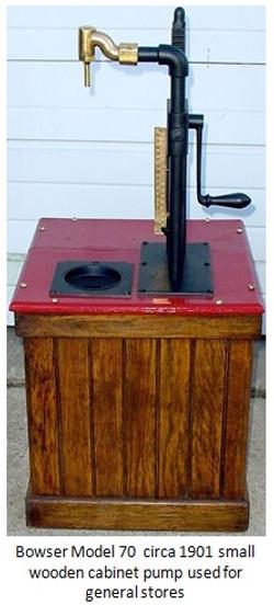 Bowser small gas pump