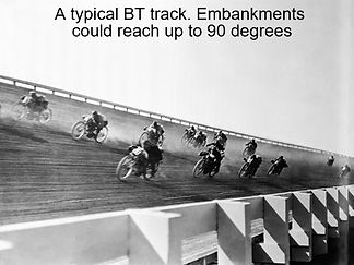The above pic shows one of the many BT tracks. The tracks embankments could reach 90 degree angles.
