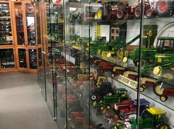 Ron and Betty toy tractor collection 9.j