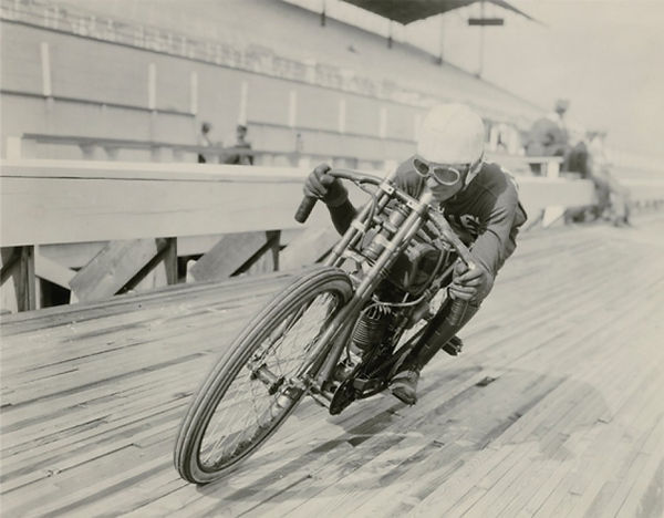 vintage motorcycle poster flat track rac