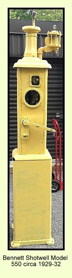 Bennett Shotwell 550 Ring Bell Clock Face Gas Pump 1929