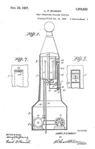 starkey patent 1927 coin operated filing