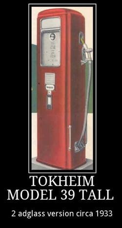 tokheim 39 tall 2 ad glass