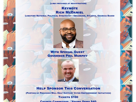 """Mercer County Democrats to host fundraiser """"A Conversation onNational Voter Suppression"""" on May 20th"""