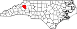 Map_of_North_Carolina_highlighting_Caldw