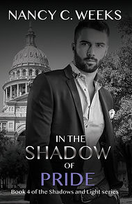 Romantic Suspense Novel Cover of In the Shadow of Pride, Book 4, Shadows and Light series by Award Winning Author, Nancy C. Weeks. Suspense, danger, intrigue, edge-of-your-seat-thriller romance series! Grab Your Copy NOW!