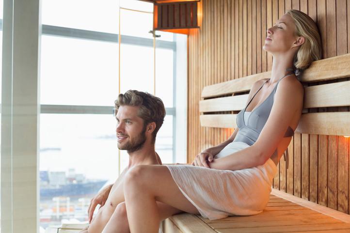 Sauna nahe Pension Seelos Mieming