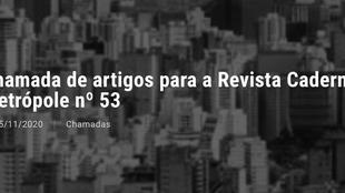 """Caderno Metrópole """"Cidades à venda: lógica imobiliária em tempos de crise"""""""