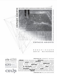Espaço Aberto: reflexões ibero‐americanas sobre cidade e sociedade.