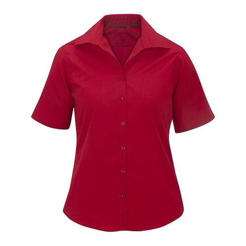 Ladies' Lightweight Short Sleeve Poplin Blouse