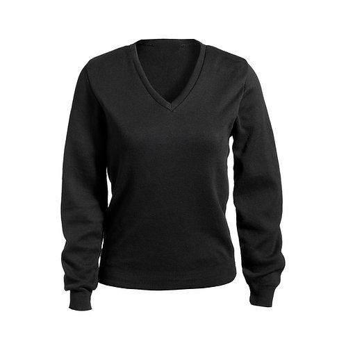 Ladies' V-Neck Cotton Sweater