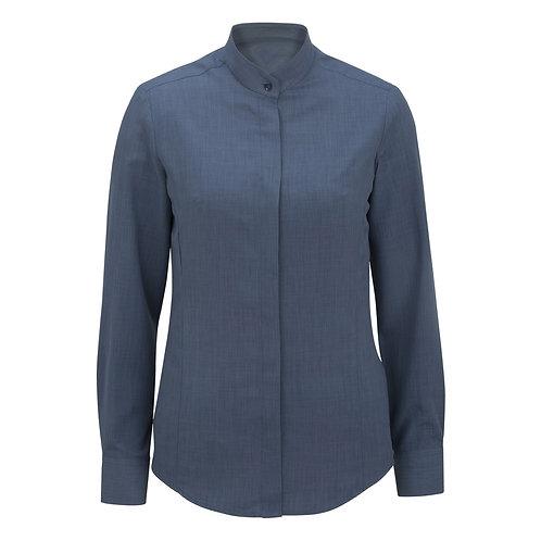 Ladies' Batiste Banded Collar Shirt